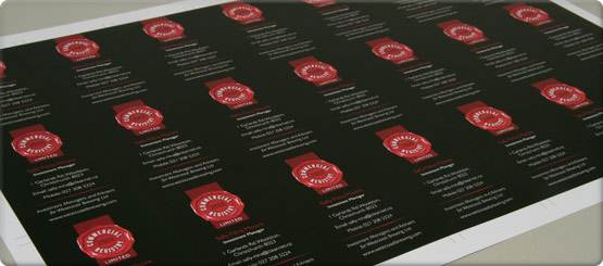 High quality digital or offset printed cards with a choice of finishing